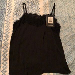 WHO WHAT WEAR,  black sexy tank with lace! NEW!!